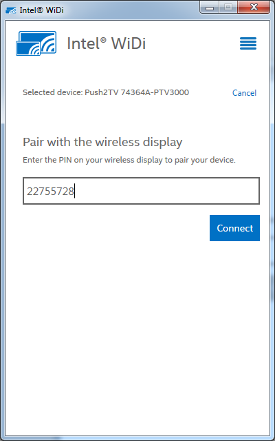 Wireless Display (WiDi) Designed for Aster Workplace